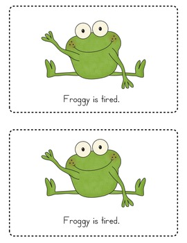 Froggy Goes to Bed Emergent Reader