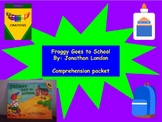 Froggy Goes to School: Book Study/Comprehension Centers, Back to School!