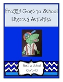 Froggy Goes to School Craftivity & Response Pages