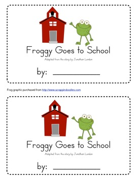 Froggy Goes to School Emergent Reader