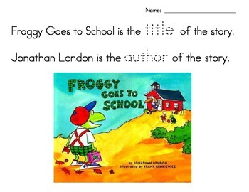 Froggy Goes to School (title author)