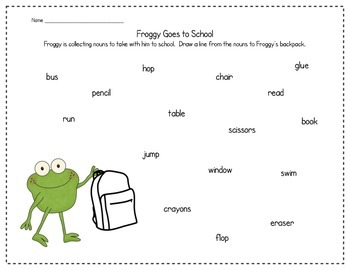 Froggy Goes to School with Nouns and Verbs