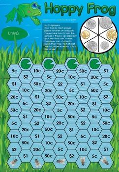 Froggy Hop - An Australian Money Board Game - K-2.