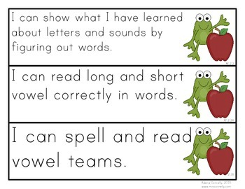 "Froggy ""I Can"" Statements for Second Grade"