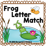 Capital Letter and Lower Case Letter Match Game - Frogs