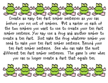 Froggy Makes a Ten