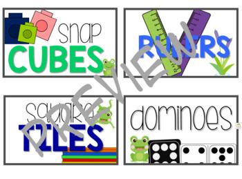 Froggy Math Tub Labels