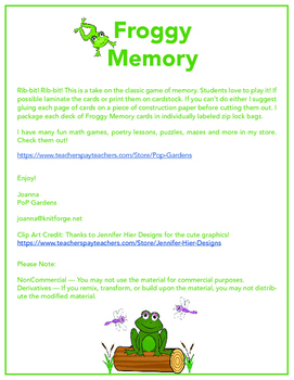 Froggy Memory: A Hoppin' Game of Memory