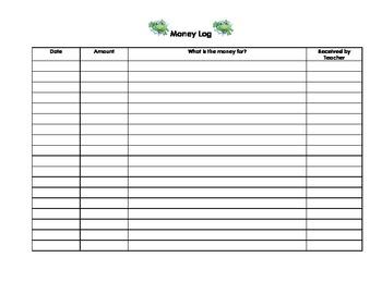 Froggy Money Log By Natalie Lewis Teachers Pay Teachers