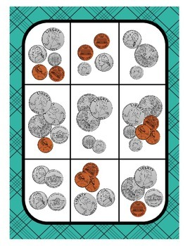 Counting coins to $1.00: task cards and activities