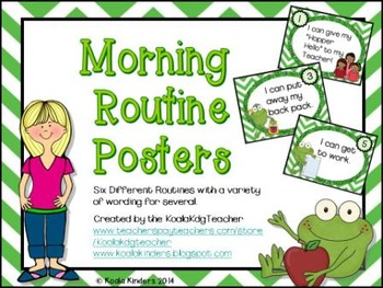 Froggy Morning Routine Anchor Posters