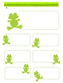 Froggy Name Tags