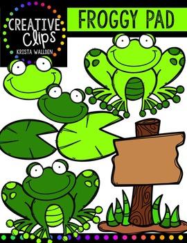 Froggy Pad {Creative Clips Digital Clipart}