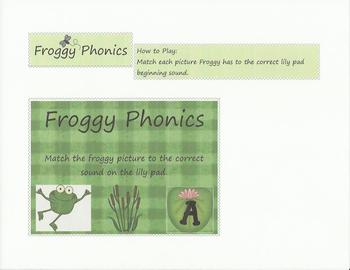 Froggy Phonics - File Folder Game