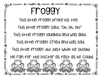 Froggy (Pocket Chart and Fingerplay Activity)