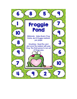 Froggy Pond Number Identification