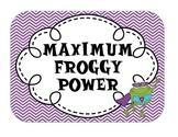 Multi Themed Power Behavior Chart (Frog, Chevron, Polka Do