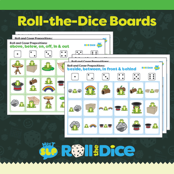 Froggy Prepositions: Roll the Dice Games/Activities