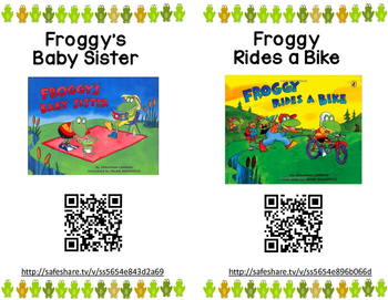 Froggy QR Code Read Alouds      23 Books