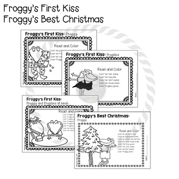 Froggy Read and Color Printables