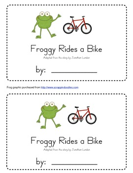 Froggy Rides a Bike Emergent Reader