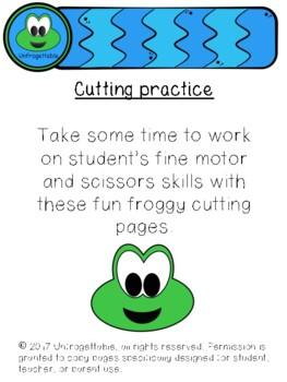 Froggy Scissor Skills Cutting Practice