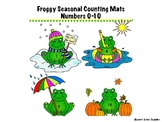 Froggy Seasonal Number Mats 0-10