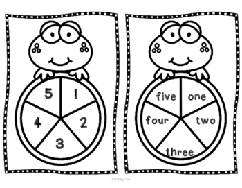 Froggy Spinner Set Numbers 1-5