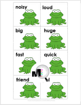 Synonyms Matching  - Frog Theme