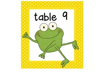 Froggy Table Numbers