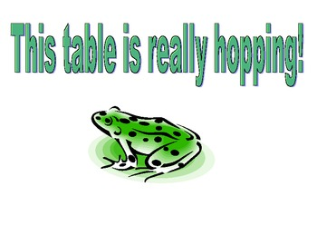 Froggy Table number signs