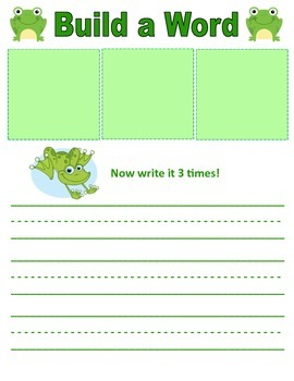 Froggy Word Building Center (diagraphs, blends, spelling words etc.)