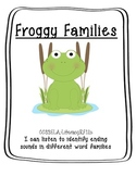 Froggy Word Families File Folder
