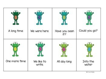 Froggy for Fry Phrases {Games for Sight Word Fluency}