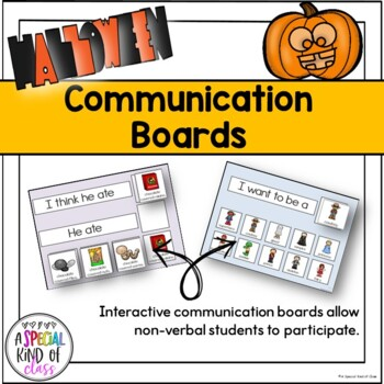 Froggy's Halloween Communication Boards for SPED