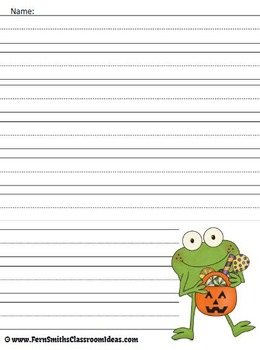 Froggy's Halloween - Writing Center and Book Companion for Froggy's Halloween