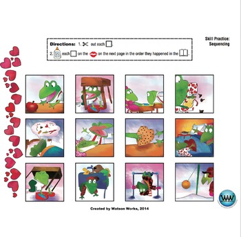 Froggy's First Kiss - A Valentine's Day themed Sequencing Activity