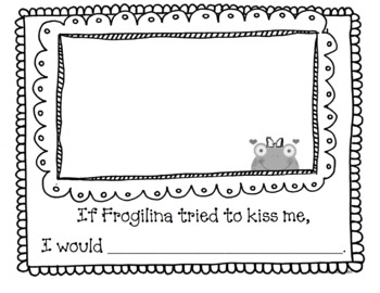 Froggy's First Kiss Valentine or Anytime Art, Math, and Writing Pack