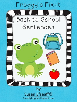 Daily Oral Language - Froggy's Fix-it! Morning Work -  Back to School