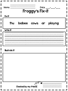 Freebie - Daily Oral Language - Froggy's Fix-it!