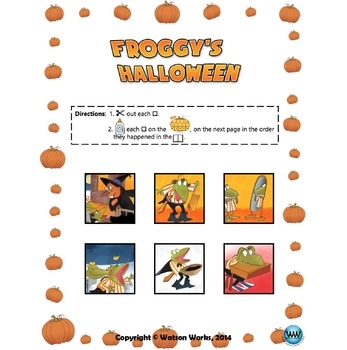 Froggy's Halloween: A Story Sequencing Activity