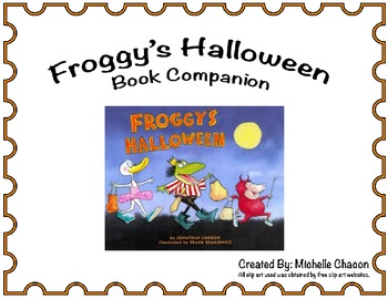Froggy's Halloween Book Companion and Activities