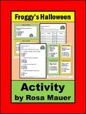 Froggy's Halloween Literacy Task Cards