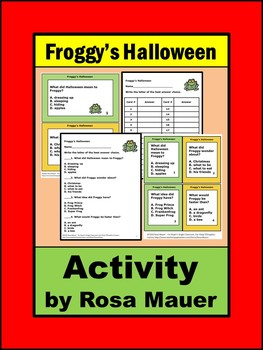 Froggy's Halloween Literacy Task Cards