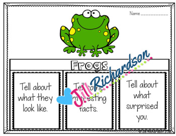 Frogs Writing Flap Books and Fast Facts Graphic Organizers!