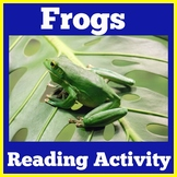 Frogs | Reading Comprehension Passage | 2nd 3d 4th 5th Grade