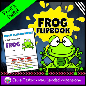 Science Halloween Activities (Frog Research Flipbook)