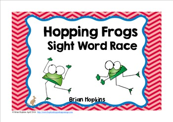 Frogs Sight Word Race