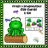 Counting 1-20 (Clip Cards) Spring Frogs and Dragonflies