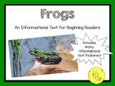 Frogs Emergent Reader: An Informational Text